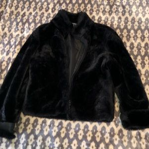 (Gap) Girls fur jacket.